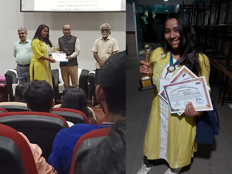 "Ms. Shuvangi Das, a student of XLS bagged ""BEST REPORTER 2019"""